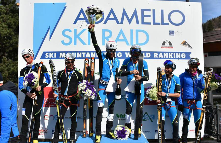Adamello Ski Raid, podium for Anthamatten and Boscacci
