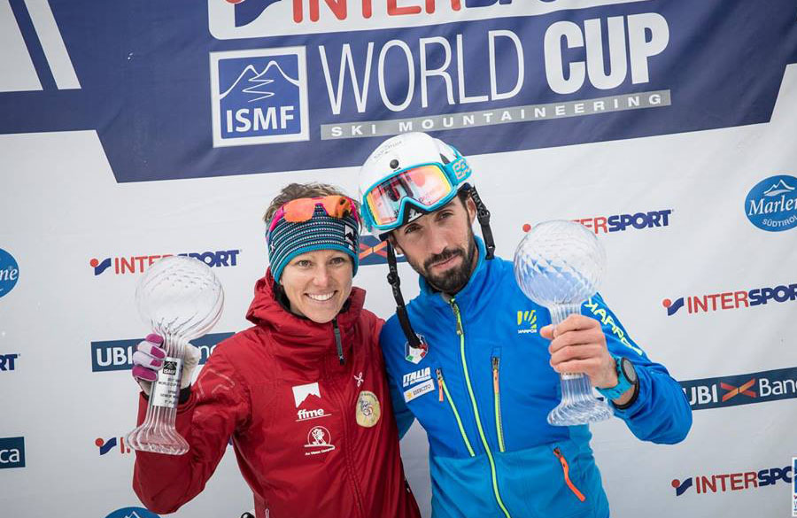 Antonioli and Roux win the overall SKimountaineering World Cup